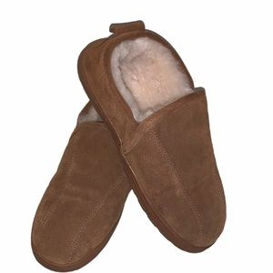 Lamo suede house shoes with fur lining